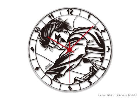 進撃の巨人 アクリル壁掛時計 リヴァイ(再販)[TOSYO]《在庫切れ》