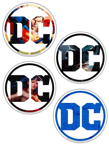 DCコミックス/ DC ロゴ ダイカットステッカー 4種セット[イン・ロック]《07月仮予約》