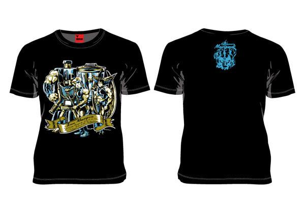 MARS16×キン肉マン 飛翔チーム Tシャツ ブラック L[マーズ・シックスティーン]《発売済・在庫品》
