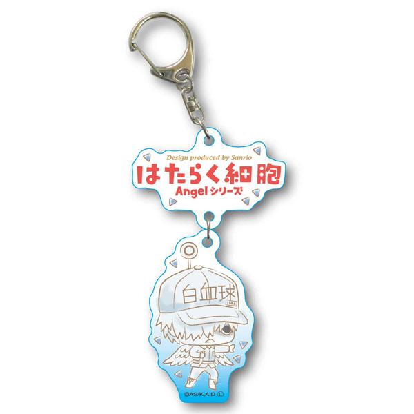 2連キーホルダー はたらく細胞 Angelシリーズ -Design produced by Sanrio- 白血球(好中球)[ベルハウス]《08月予約》
