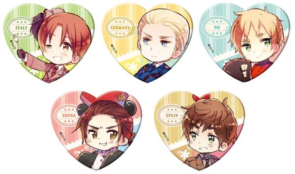 ヘタリア World☆Stars ラメアクリルバッジVol.1 5個入りBOX[メディコス・エンタテインメント]《発売済・在庫品》