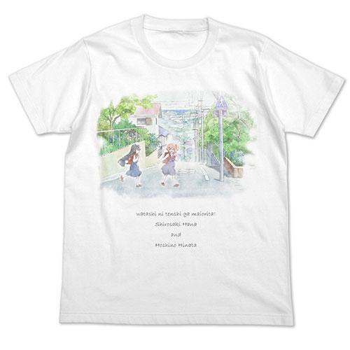 私に天使が舞い降りた! 花&ひなた フルカラーTシャツ/WHITE-L(再販)[コスパ]《11月予約》