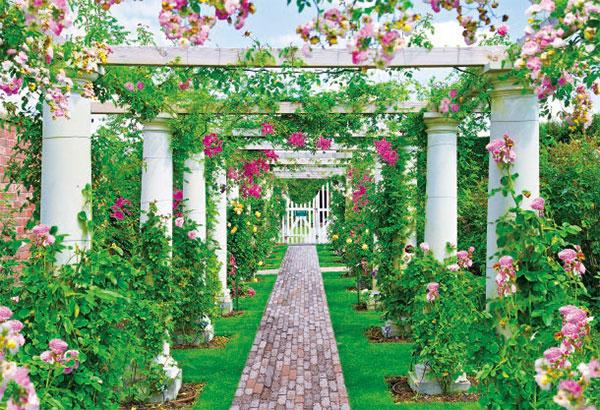 ジグソーパズル 世界の美しい庭園 イングリッシュローズガーデン 300ピース (25-185)[エポック]《在庫切れ》