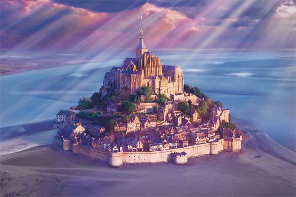 ジグソーパズル 世界風景 光りさすモン・サン・ミッシェル-フランス 1000ピース (10-808)[エポック]《在庫切れ》