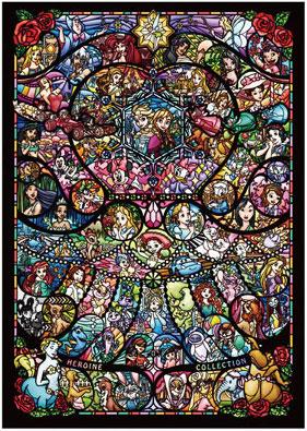 ジグソーパズル ディズニー&ディズニー/ピクサー ヒロインコレクション ステンドグラス 1000ピース (DW-1000-005)[テンヨー]《取り寄せ※暫定》