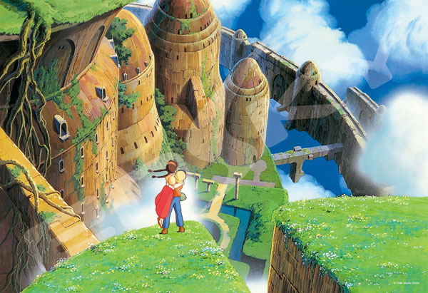 ジグソーパズル 天空の城ラピュタ 降り立つ二人 300ピース (300-419)[エンスカイ]《在庫切れ》