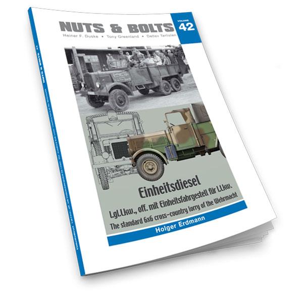 ナッツ&ボルト Vol.42 アインハイツ ディーゼルl.gl.Lkw ドイツ国防軍用統制型6×6クロスカントリートラック (書籍)[Nuts Bolt]《在庫切れ》