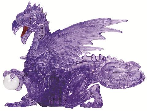 クリスタルパズル パープル ドラゴン[ビバリー]《在庫切れ》
