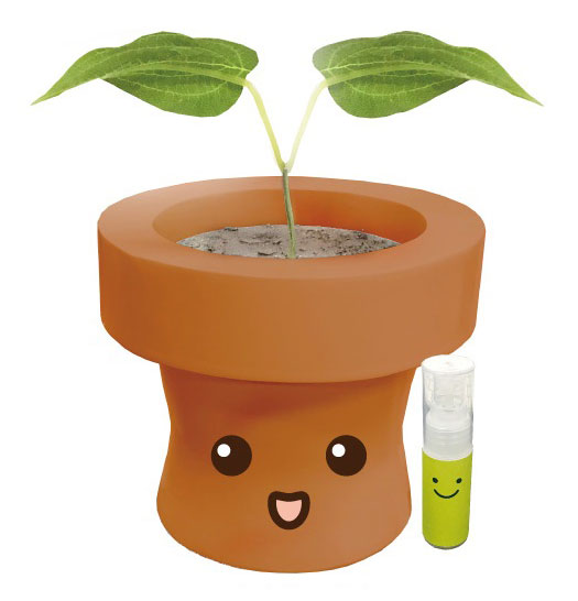 Talking flower pot(ブラウン)[テンヨー]《春月予約※暫定》