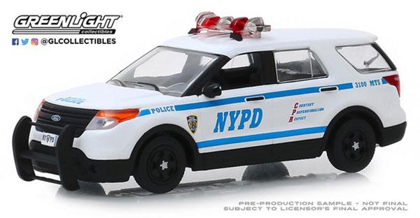 1/43 2013 Ford Police Interceptor Utility - New York City Police Dept (NYPD)[グリーンライト]《在庫切れ》