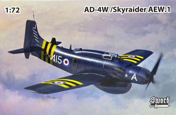 1/72 AD-4W/AEW.1 スカイレーダー プラモデル[ソード]《05月予約》