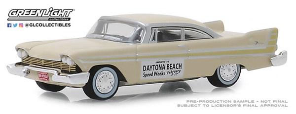 1/64 1957 Plymouth Fury - Daytona Beach Speed Weeks February 3-17, 1957[グリーンライト]《在庫切れ》