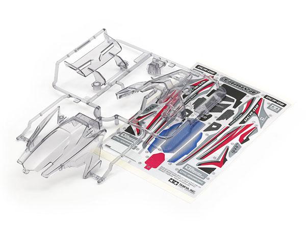ミニ四駆特別企画 DCR-02 (デクロス-02) ボディパーツセット (ライトスモーク)[タミヤ]《発売済・在庫品》