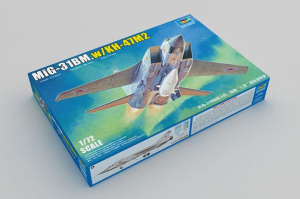 1/72 MiG-31BM フォックスハウンド /Kh-47M2 キンジャル空中発射弾道ミサイル プラモデル[トランペッターモデル]《06月予約》