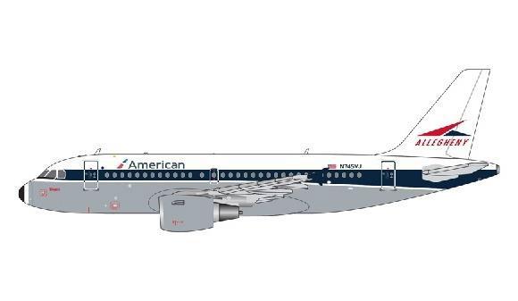 1/400 Gemini Jetsアメリカン/アレゲニー航空 A319 N745VJ[ジェミニ]《在庫切れ》