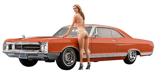 1/24 1966 アメリカン クーペ タイプB w/ブロンド ガールズ フィギュア プラモデル[ハセガワ]《発売済・在庫品》