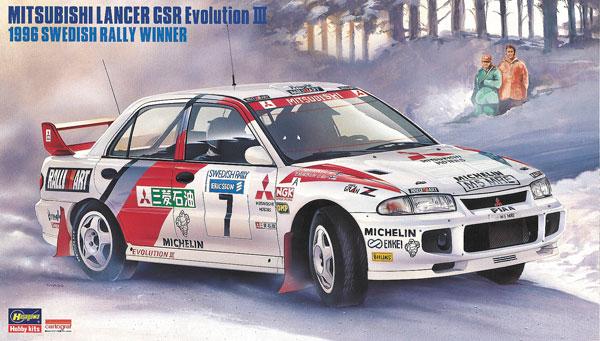 """1/24 三菱 ランサー エボリューション III""""1996 スウェディッシュ ラリー ウィナー"""" プラモデル[ハセガワ]《07月予約》"""