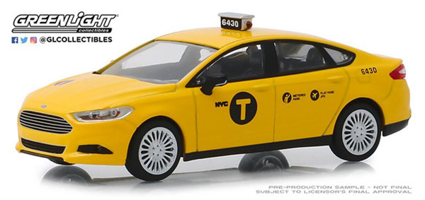 1/43 2013 Ford Fusion NYC Taxi[グリーンライト]《09月仮予約》