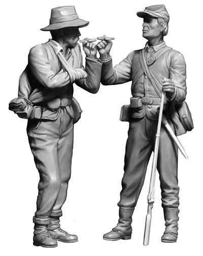1/35 南北戦争・南北両軍兵士2体・兄弟再会・1865年終戦 プラモデル[マスターボックス]《05月予約》
