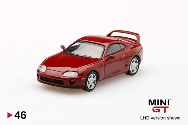 1/64 Toyota スープラ(JZA80) ルネサンスレッド(左ハンドル)[MINI GT]《08月予約》