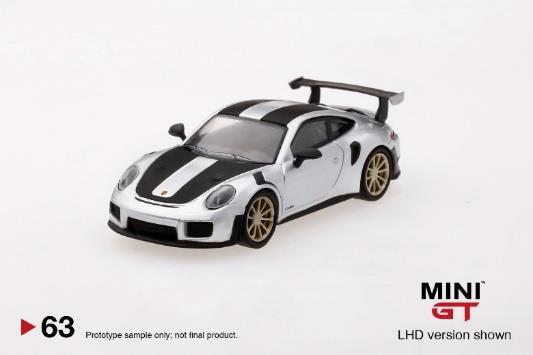 1/64 ポルシェ 991ターボ GT2RS シルバーメタリック(左ハンドル)[MINI GT]《在庫切れ》