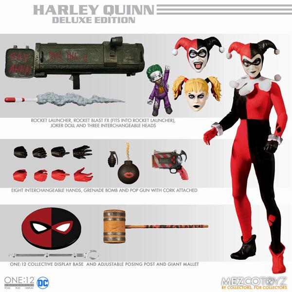 ワン12コレクティブ/ DCコミックス: ハーレイ・クイン 1/12 アクションフィギュア デラックスエディション[メズコ]《在庫切れ》
