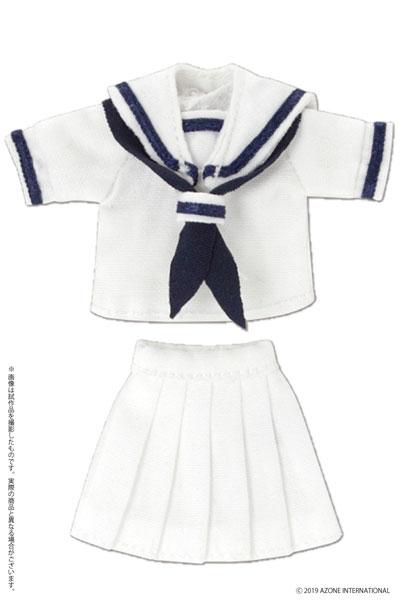 ピコニーモ用 1/12 半袖セーラー服セットII ホワイト×ネイビー (ドール用)[アゾン]《09月予約》