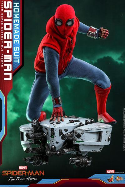 【中古】(本体A/箱B)ムービーマスターピース FarFromHome スパイダーマン ホームメイドスーツ 延期前倒可能性大[ホットトイズ]【同梱不可】《発売済・在庫品》