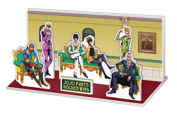 TVアニメ「ジョジョの奇妙な冒険 黄金の風」 描き下ろしアクリルジオラマ「ブチャラティチーム」[メディコス・エンタテインメント]《09月予約》