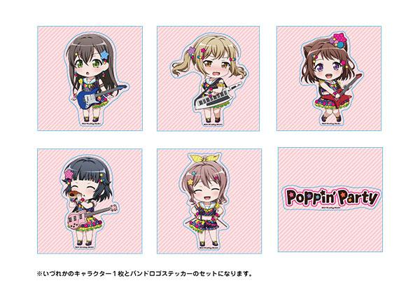 BanG Dream! ねんどろいどぷらす トレーディングステッカー Poppin'Party 10個入りBOX[グッドスマイルカンパニー]《03月予約》