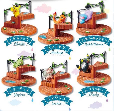 ポケットモンスター つなげてかわいい!ポケモンの階段 ~雨上がりの街~ 6個入りBOX (食玩)[リーメント]《10月予約》