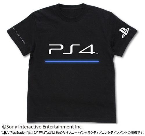 """プレイステーション Tシャツ """"PlayStation 4""""/BLACK-XL(再販)[コスパ]《06月予約》"""