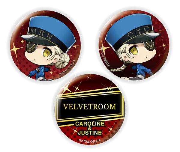 きゃらふぉるむ ペルソナ5 ザ・ロイヤル 缶バッジセット カロリーヌ&ジュスティーヌ[イクリエ]《発売済・在庫品》