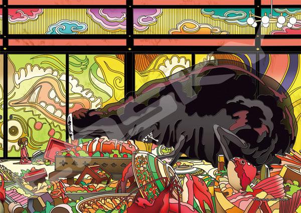 アートクリスタルジグソー 千と千尋の神隠し 饗宴の後 208ピース (208-AC60)[エンスカイ]【送料無料】《発売済・在庫品》