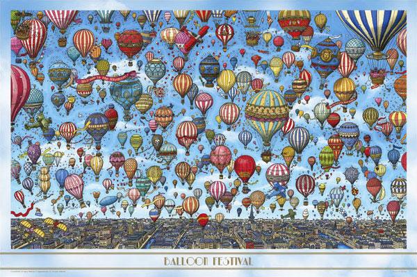 ジグソーパズル 迷路探偵ピエール 気球の空 1000ピース(10-1359)[やのまん]《在庫切れ》