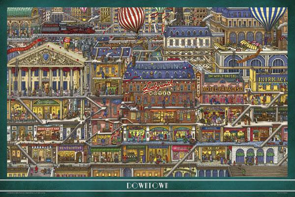 ジグソーパズル 迷路探偵ピエール 高いビル 1000ピース(10-1360)[やのまん]《在庫切れ》