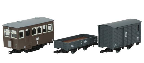 鉄道コレクション ナローゲージ80 猫屋線 ジ1・ト4・ワフ1 茶色塗装[トミーテック]《11月予約》