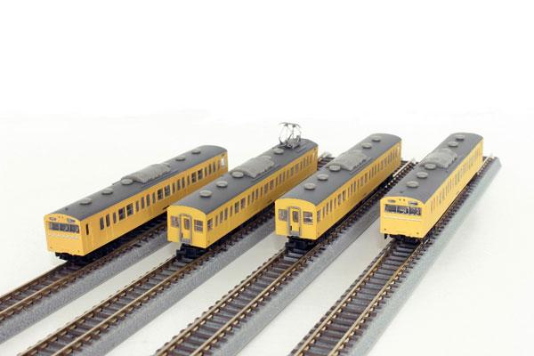 T022-13 国鉄103系 カナリア 高運転台タイプ 4両基本セット[ロクハン]【送料無料】《在庫切れ》