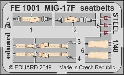 1/48 MIG-17F シートベルト (ステンレス製) (ホビーボス用)[エデュアルド]《在庫切れ》