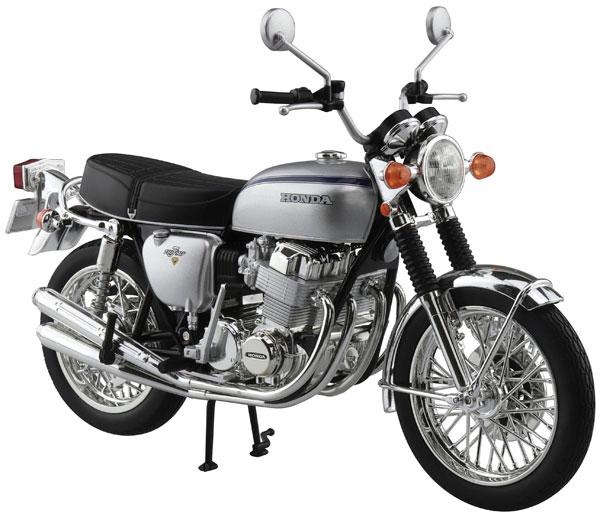 1/12 完成品バイク Honda CB750FOUR(K2) シルバー[スカイネット]《在庫切れ》