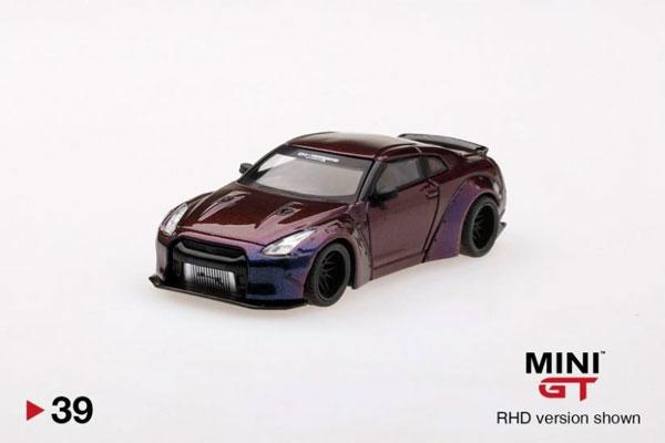 1/64 LB★WORKS Nissan GT-R (R35) タイプ1 リアウイング バージョン1 マジックパープル (右ハンドル)[MINI GT]《発売済・在庫品》