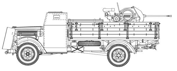 1/35 WW.II ドイツ軍 3トン 4×2装甲キャビントラック 2cm対空機関砲 Flak38搭載型 プラモデル[ドラゴンモデル]《10月予約※暫定》