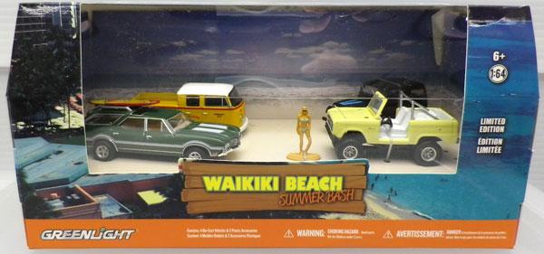 1/64 Multi-Car Dioramas - Waikiki Beach Summer Bash[グリーンライト]《01月仮予約》