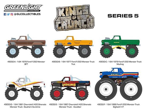 1/64 Kings of Crunch Series 5 6種セット[グリーンライト]《01月仮予約》