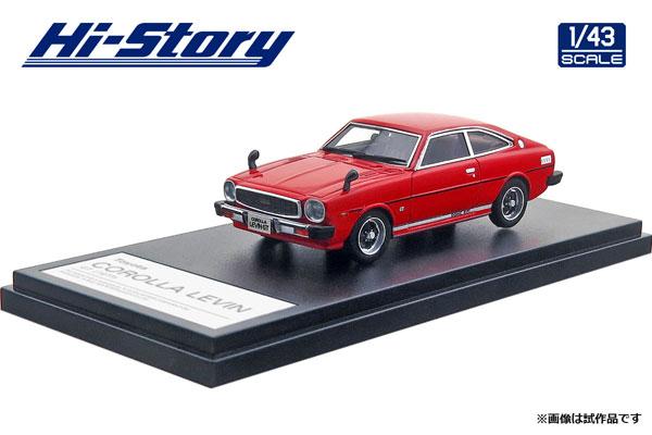 1/43 Toyota COROLLA LEVIN GT (1977) スピカレッド[ハイストーリー]《在庫切れ》