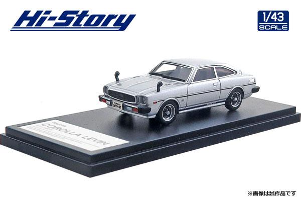 1/43 Toyota COROLLA LEVIN GT (1977) クリスタルシルバーM[ハイストーリー]《在庫切れ》