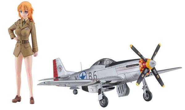 1/20 ストライクウィッチーズ シャーロット・E・イエーガー w/P-51D ムスタング(1/72) プラモデル[ハセガワ]《11月予約》