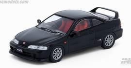 1/64 Honda インテグラ Type-R DC2 ブラック 交換用ホイールセット、デカール付[INNO Models]《発売済・在庫品》