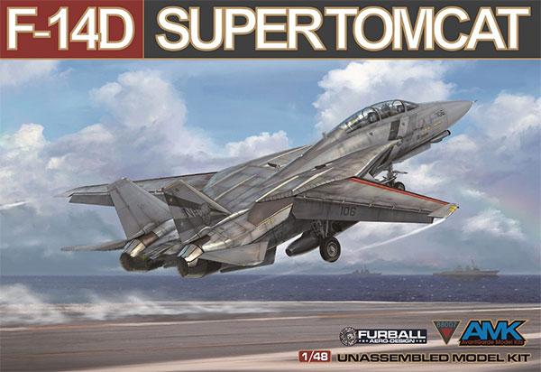 1/48 F-14D スーパートムキャット プラモデル[アバンギャルドモデル]《10月予約》