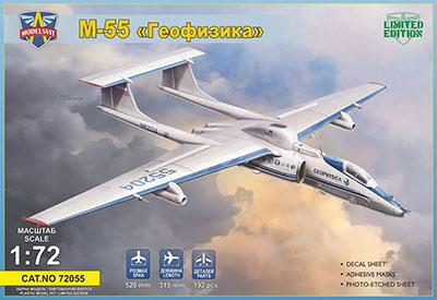 1/72 露・ミャスィーシチェフM-55ミスティックB高高度偵察機 プラモデル(再販)[モデルズビット]《11月予約》